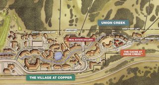 Copper Mountain condo photo - Location of Cache at Union Creek in Copper Village