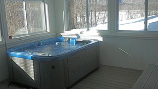 North Conway house photo - Hot tub - lower level