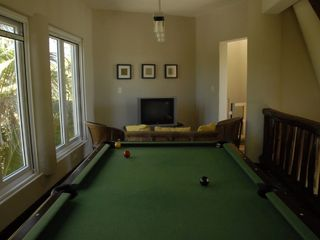 Tulum villa photo - Gameroom with cable TV, pool table & ping pong