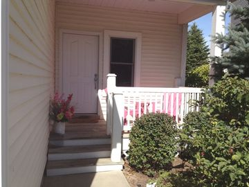 Enjoy your morning coffee or tea on the cozy front porch.