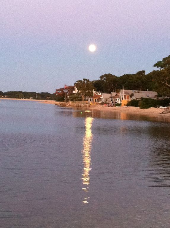 Strolling along our Beach during a Full Moon