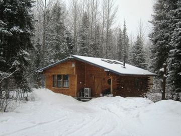 Cooper Landing cabin rental - 1200 SF Main House. House is part log & part modular construction.