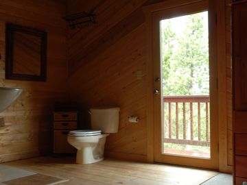 Master Bath with Walk-Out Deck