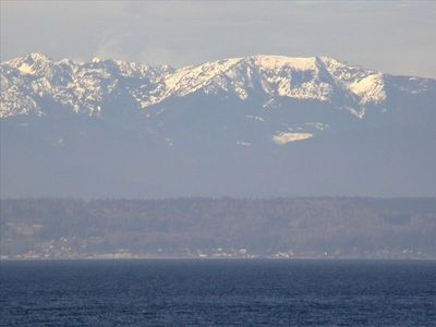 View of the Olympic Mountains