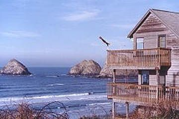 Oceanside house rental - Large 4 level home with 180 degree view in every room
