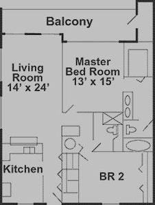 Beachfront Condo Layout