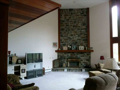 Great room with fireplace.
