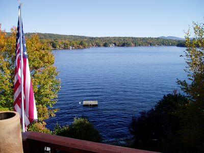 Lake Winnisquam house rental - View from deck
