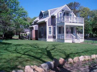 Oak Bluffs house photo - a view of the other side, MBR and front porches w/rockers-heaven!