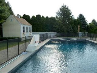 Water Mill farmhouse photo - Pool and attached Spa/Jacuzzi
