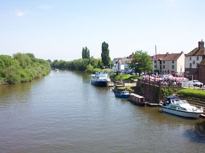 The River Severn at nearby Upton-on-Severn