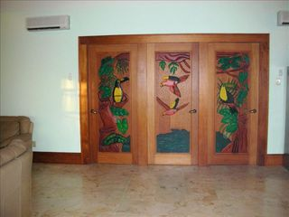 Ambergris Caye house photo - Hand Carved Wood Doors