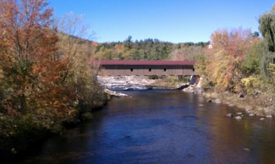 1857 Jay Covered Bridge, 1/2 mile from the house