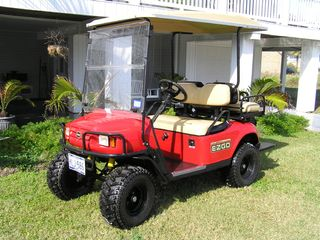 Private Golf Cart Rental, Island Roads/Beach Only