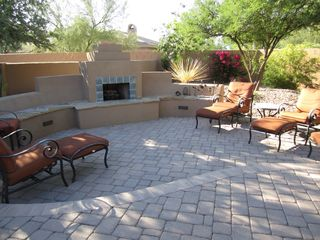 Scottsdale house photo - Take the chill off while sitting around our wood burning fireplace.