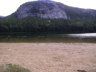 North Conway cabin photo - White horse ledge from echo lake beach