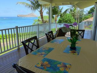 Waimanalo house photo - Upstairs Large Deck with Amazing Ocean Views