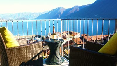 Argegno apartment rental - The panormic lake view from your private balcony
