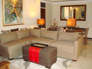 Very comfortable living room. Go ahead, put your feet up and relax - Candidasa villa vacation rental photo