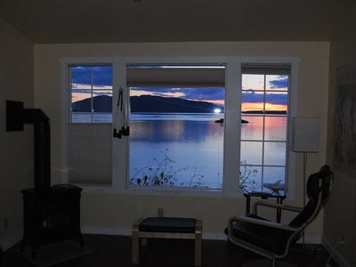 The view out the HideAway at sunset...
