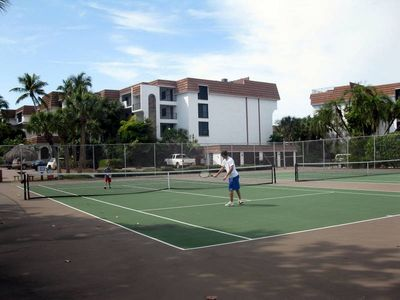 Tennis courts with lessons available.