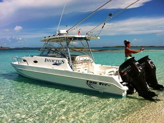 Great Exuma villa photo - A26 foot Twin Vee with a cuddy cabin for day trips