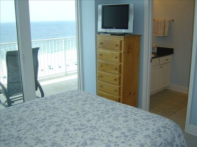 Gulf Shores condo rental - Same Gulf Front Queen Bedroom w Private Bath, 20-in TV