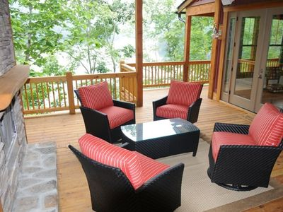 Tuckasegee house rental - Downstairs Outside Side Deck