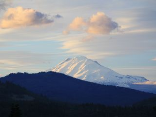 Hood River house photo - Sunset glow on Mt. Adams