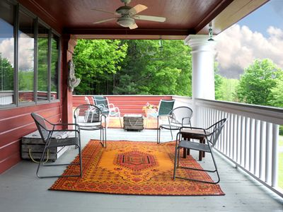 The porch, be inside while being outside.
