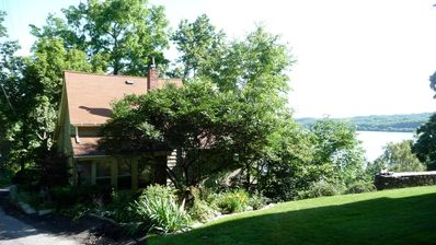 Side View of the House and Hudson River in the Summer