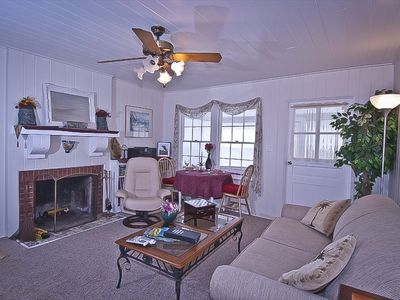 The Cottage Living-room with wood burning fireplace