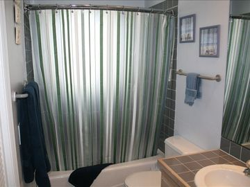 New Shower Bar that provides more room in the shower.