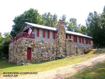 Hardy cabin rental - The Lodge at the Riverview Compound in Hardy AR