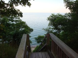South Haven cottage photo - Lake Michigan overlook and beach stairs