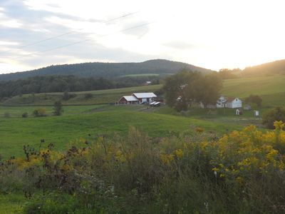 View of the main farm from the subject 3 bedroom/2 bath Guest Cottage/Rental