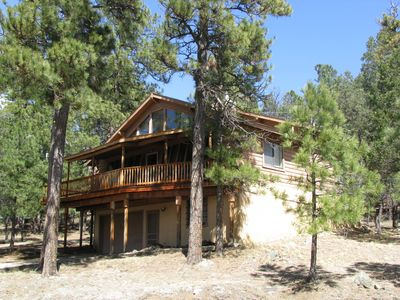 Upper canyon cabin luxury log cabin minutes from for Cabin rentals near ski apache