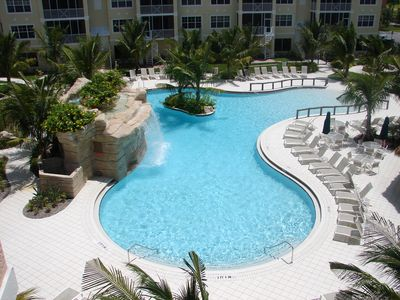 Your Enjoyable Easterly View of The Resort Pool and Waterfall.