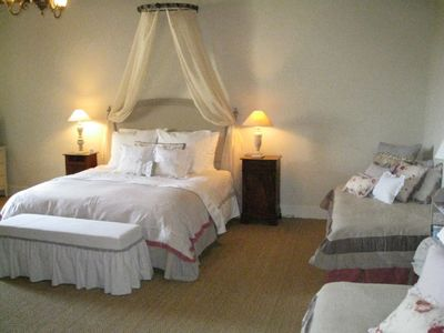 Domme castle rental - Large family room 4th floor (queen + 2 twin beds)