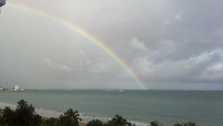 Isla Verde condo photo - rainbow view from condo balcony