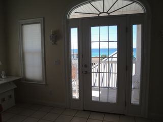 El Centro Beach house photo - View looking out to Gulf from main living area.