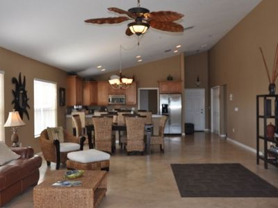Indian Rocks Beach condo rental - Very spacious ~2,100 sq ft unit w/ high cathedral ceilings - windows all around