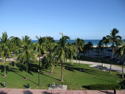 View from the large balcony of the unit, Apartment for rent south beach,