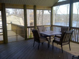 Moneta house photo - Screen porch view 1