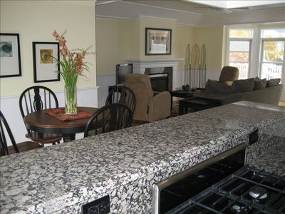 Living and Dining Room from Kitchen Counter