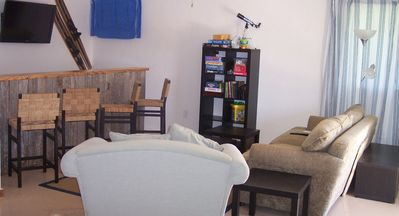 Horseshoe Bay house rental - Half of huge gameroom shown here has LCD TV and bar, leads to outdoor patio