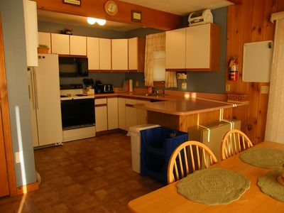Large eat in kitchen with all appliances.