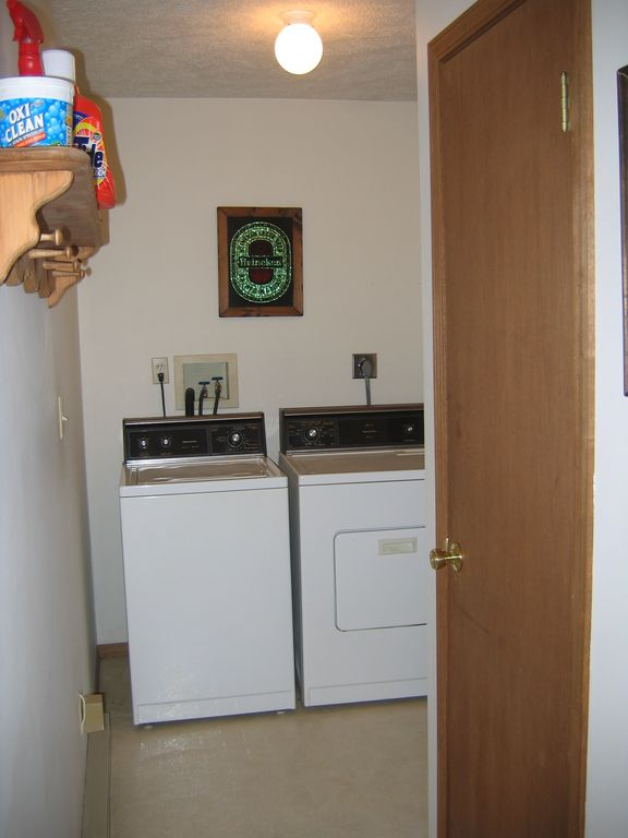 Washer and Dryer in our home for your convenience!