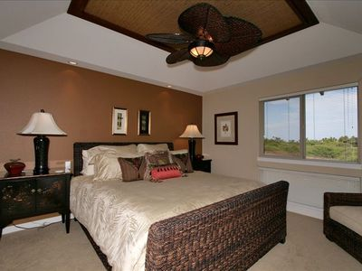 Elegant Master Suite with CA King Bed & Flat Screen TV on Opposite Wall