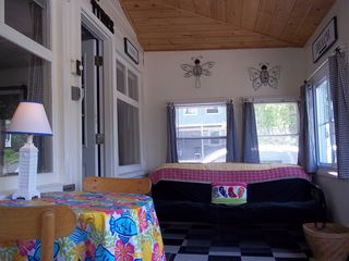 Old Orchard Beach house photo - Porch with Full Size Futon